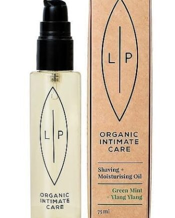 Ekologisk hudvård - Lip Intimate Care - Shaving & Moisturising Oil Green Mint + Ylang Ylang - Lip